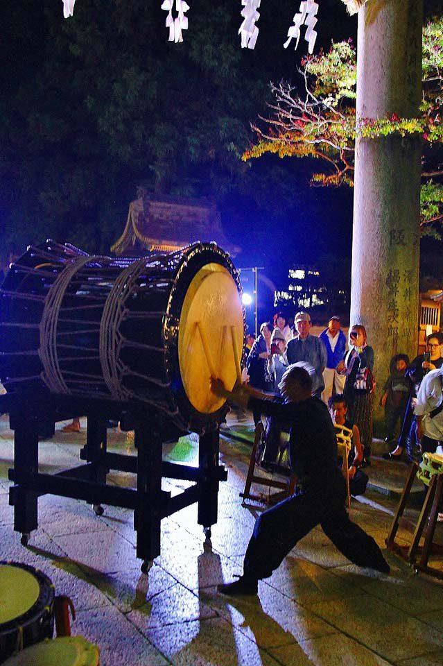 龍姫太鼓の演奏
